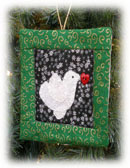 Quilt Block with Embroidered Dove