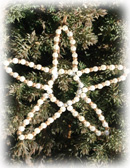 Beaded Star White/Gold